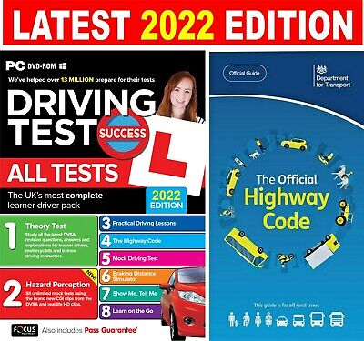 2018 Driving Theory Test & Hazard CD DVD + Official Highway Code Book