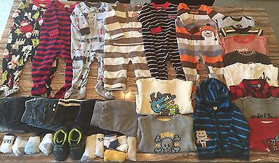 12 Month Baby Boy Clothes Lot 36 pc Spring Fall Winter Carters Jumping Beans Kid