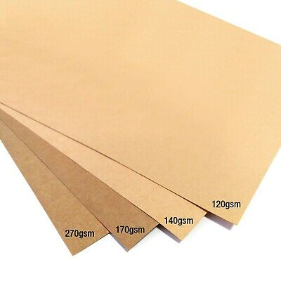 A4 Brown Kraft Card Blank Stock Paper Craft Weddings Tags Packaging Card Stock