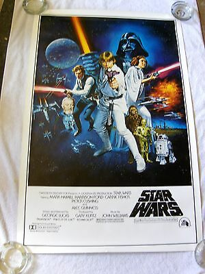 Star Wars Style C 1977 Movie Poster Domestic Issue W/pg Box - Rolled