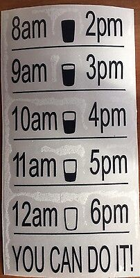 Motivational Water Bottle Vinyl Decal Fitness Gym Weight Loss STICKER ONLY