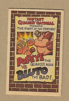 1989 Quaker Instant Oatmeal Popeye The Quaker Man Vs. Bluto The Bad! Comic Book