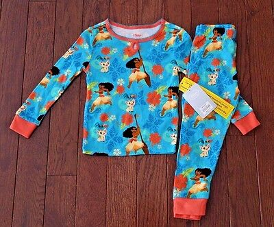 NWT Disney Store MOANA girls jammies pajamas sleepwear! 3, 4, 5, 6 or 7