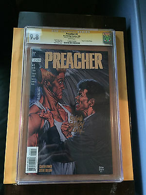 Preacher #4  CGC 9.8 (SIGN SERIES ) WHITE PAGES