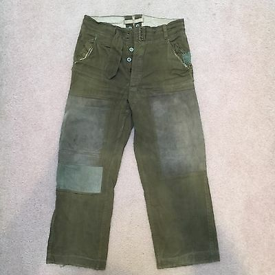Original WWII German DAK Africa Korp Trousers Patched
