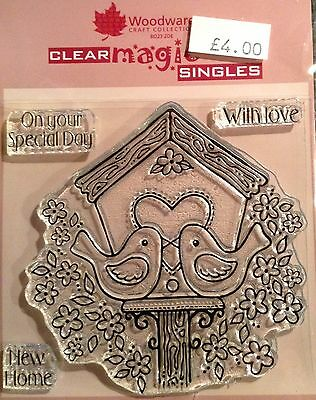 Woodware Clear Magic Love Birds stamp set FRS115
