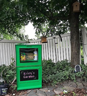 Little Sidewalk Library - Made out of Recycled Newspaper Box