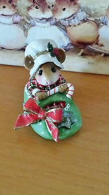 "Wee Forest Folk  M-498 ""Snuggled in for Christmas""  Mint"