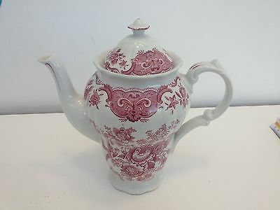 Ridgway Staffordshire White And Pink Coffee Pot