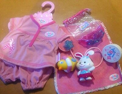Zapf Creation BABY BORN DOLL BUNDLE Night Lights Interactive Dummy Clothes Duck