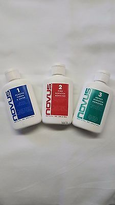 NOVUS 1, 2, 3 Plastic Polish and Scratch Remover, 2 oz,  FREE SHIPPING