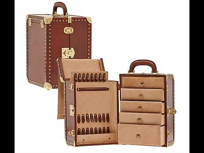 The Bridge Leather Jewellery Box, Trunk Style Leather Top Quality Jewellery Case