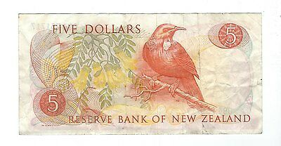 New Zealand -  Five (5) Dollars, 1975-77
