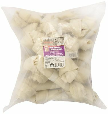 Dogit Beefhide Knotted Bone Large 22.8-25.4cm 9 -10-Inch 160-180gm 5.6-6.3-Ou...