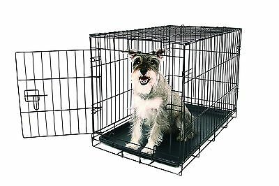 Carlson Pet Products Compact and Secure Single Door Metal Dog Crate Medium