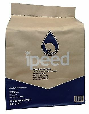 iPeed Premium Training Pads for Puppies and Dogs - Biodegradable - 50-pack