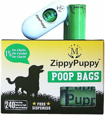 240 Biodegradable Dog Poop Bags with Stylish Universal Dispenser ($5.99 Value...