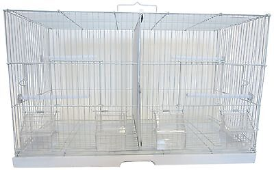 YML 3/8-Inch Canary Finch Breeding Cage Small White