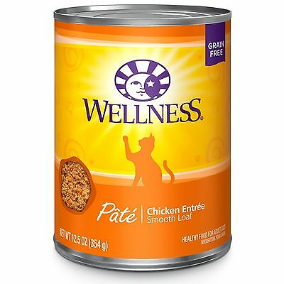 Wellness Complete Health Natural Canned Grain Free Wet Cat Food Chicken Pate ...