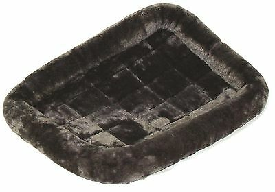 Midwest Quiet Time Pet Bed 48-Inch x 30-Inch (Gray) Gray Standard Packaging