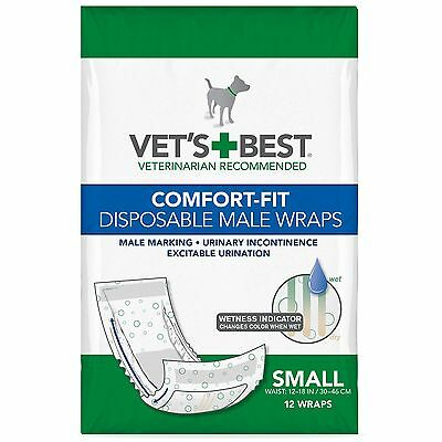Vet's Best Comfort Fit Small Disposable Male Wrap 12 count