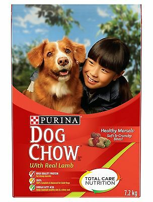 Purina Dog Chow Dog Food with Real Lamb 7.2kg Bag
