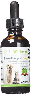 Pet Wellbeing - Thyroid Support Gold for Cats and dogs - A Natural Herbal Sup...