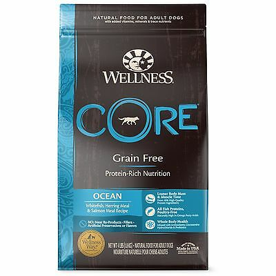 Wellness CORE Natural Grain Free Dry Dog Food Ocean Whitefish Herring & Salmo...