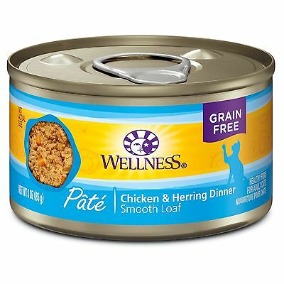 Wellness Complete Health Natural Canned Grain Free Wet Cat Food Chicken & Her...