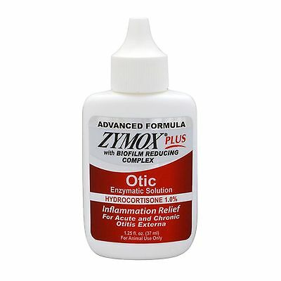 Pet King Brands Zymox Plus Otic-HC Enzymatic Ear Care Solution 1.25-Ounce