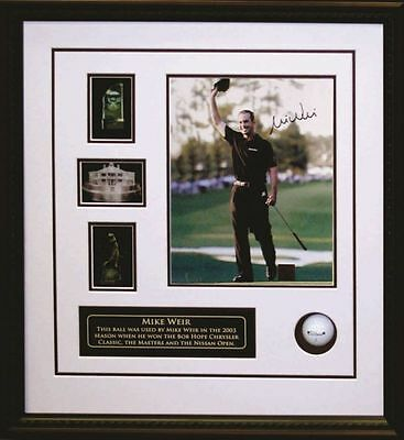 Mike Weir - Signed & Framed 8x10 Etched Mat - Featuring Game Used 2003 Golf Ball