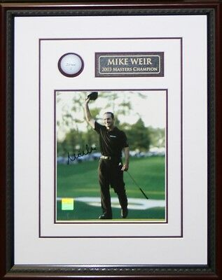 Mike Weir - Signed & Framed 8x10 Etched Mat - Featuring Golf Ball