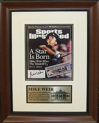 Mike Weir - Signed & Framed Sports Illustrated Cover - (Full Magazine Included o
