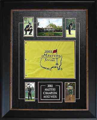 Mike Weir - Signed & Framed Masters Flag Featuring Mini Photos