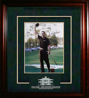 Mike Weir - Signed & Framed 8X10 Etched Mat - Featuring Pin Golf Hat Raised