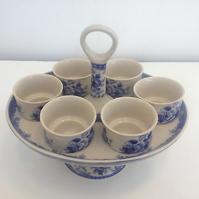 Beautiful Powell Craft Egg Cup Stand And Six Egg Cups
