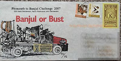2007 Super Rare - Banjul or Bust FDC - Discworld Stamp - Terry Pratchett