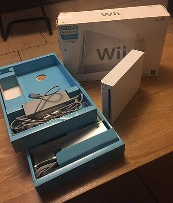 Nintendo Wii Console Boxed With All Cables But No Games Or Controller
