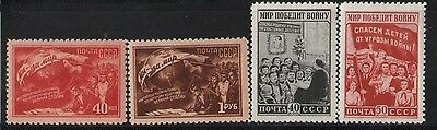 Russia 1951 Peace Demonstration Mnh Cat 40.50