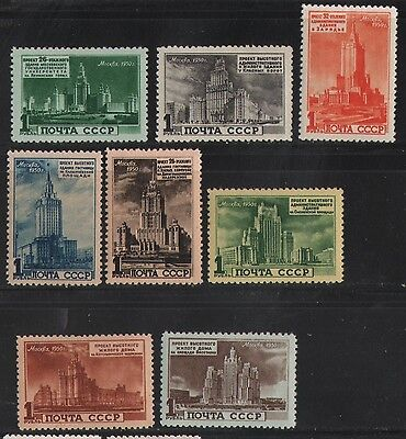 Russia 1951 Skyscrapers Planned For Moscow  Mnh  Cat 460.00