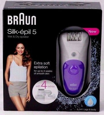 New Braun Silk-Epil Series 5 5-541 Wet & Dry Epilator Extra Soft