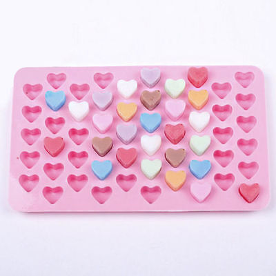 Silicone 55 Mini Heart Baking Mould For Cake Chocolate Cookie Jelly UK SELLER