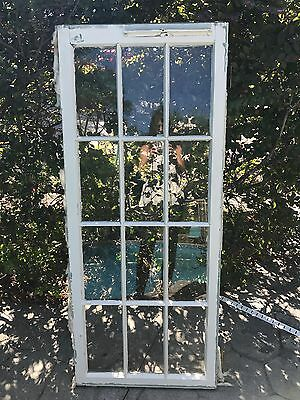 Antique 1920's Window Frame with Glass 12 Pane Cabinet Mirror cottage 19.75 x 57