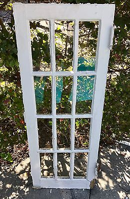 Antique 1920's Window Frame with Glass 12 Pane Cabinet Mirror cottage 16 x 42.5