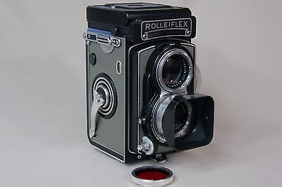 Rolleiflex T Model 1 (Type 1) Grey Leather Camera *Very Early Serial No.2100331*