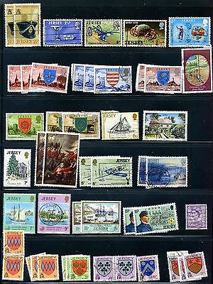 Jersey Lot of 212 Stamps, Great Britain