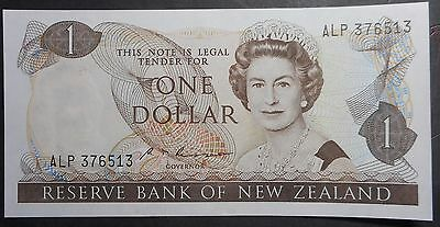 New Zealand 1985 - 9  Russell $1  Dollar   Note  UNC