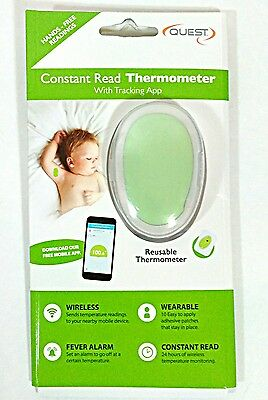Quest Temp Sitter Constant Read Thermometer W/ App Baby Monitor Fever Alarm
