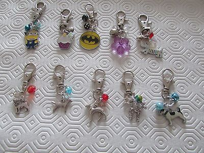 Handmade Dog Collar Charms Clip on Batman pug  Lab/Retrever Poodle Jack Russell