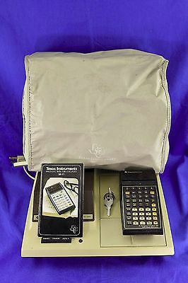 Vintage Texas Instruments Ti59 Calculator And Pc-100C Cradle Works